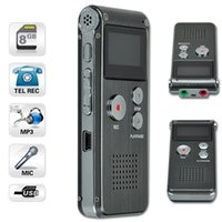 Wholesale Rechargeable GB Voice Activated USB Digital Audio Voice Recorder Dictaphone MP3 Player Black