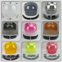 Wholesale snap vintage helmet bubbles shield visor glasses scooter jet helmet lens open face motorcycle helmet visor glass