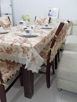 dining table and chair - Supply pastoral style blended lace tablecloth upscale dining table and chairs sets of TV coffee table cloth