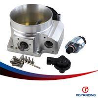 Wholesale PQY RACING mm throttle body TPS IAC Throttle Position Sensor for LSX LS LS1 LS2 LS6 SILVER