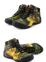 hunting wear - Sneaker Mens Shoes Outdoor Athletic Camouflage Professional Climbing High Top Lace up Hiking Non slip Travel Waterproof Warm Wear Resistant