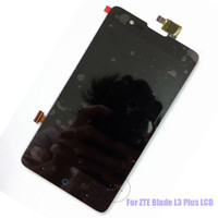 Wholesale For ZTE Blade L3 Plus LCD Display Touch Screen Panel Assembly Black Top Quality Tracking