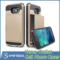 water slide - Verus slide cases for iPhone6 galaxy S6 cell phone protect cases ID card wallet TPU PC colors with retail packaging DHL