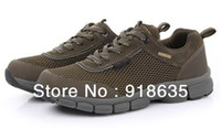 Wholesale New fashion men casual breathable mesh shoes sports slip resistant wear resistant outdoor shoes