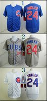 dexter - Chicago Cubs Dexter Fowler Baseball Cool Base Jersey Best quality Authentic Jerseys Embroidery Logo Size M XL Mix Order