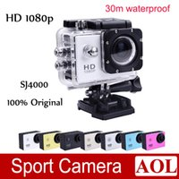 Wholesale HOT m Waterproof Sport DV Camera SJ4000 HD DV Novatek P fps MegaPixels H Inch Outdoor Home Security HD DV CAR DVR