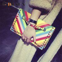 fashion clutch bags - Brand Fashion Vintage Clutch Bag Women PU Leather Clutch Bags High Quality Designer Hand Bags