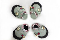 Wholesale Zombie The Walking Dead Pairs Plush Stuffed Slippers Cuddly Fluffy Collectible Adult children slippers