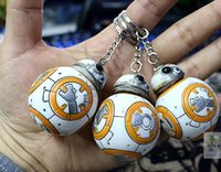 bb purses - 2016 Star War The Force Awakens BB Keychains Accessories Movie Toy car keyring Bag Purse Pendant Accessory