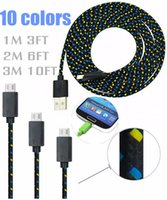 Universal apple usb extension cable - Braided Woven Charger Cable for Samsung Extension Micro USB Charging Wire Data Sync Cloth Colorful Cord for HTC M FT M FT M