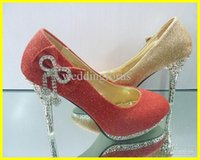 Wholesale Sparkling Beaded High heels rhinestone bowknot dress shoes for wedding party
