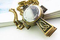 Wholesale Korea Hot retro cross necklace pocket Watches charm women dress friendship Watches piece