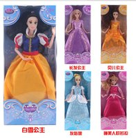 barbie dolls - 12inch New Barbie Toys For Baby Girls Snow White Cinderella Sleeping Beauty Dolls Long Hair Princess Toy Mix Styles Good Gift