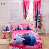 Wholesale 10pcs Frozen Bedding Curtain Duvet Cover Sheet Pillow Case Cushion Cover Bedlinen Mickey Mouse Bedding Sets Single Double Queen