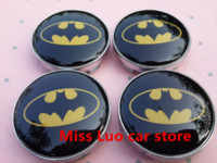 batman auto accessories - 4pcs mm Batman Mazda car emblem Wheel Center Hub Caps Dust proof Badge logo covers auto accessories