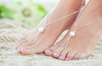 beach jewellery - Sexy Beach Great Pearl Bead Toe Chain Anklet Ankle Bracelet Foot Jewellery Hot Summer Style Body Jewelry