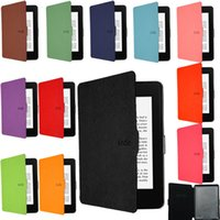Wholesale 2015 New Smart Ultra Slim Magnetic Case Cover For Kindle Paperwhite Sleep and Wake Up Function Business e Books Case Pen
