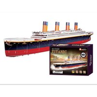 baby titanic - 2015 Latest Titanic Model Puzzle Toys for Children Paper Material DIY D Puzzle Educational Baby Toys