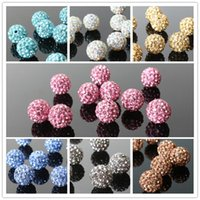 Wholesale Cheap mm Mixed Color Micro Pave CZ Disco Ball Crystal Shamballa Bead DIY Bracelet Necklace Beads