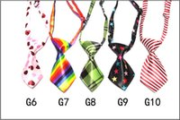 Wholesale 120 Mix Color Polyester Silk Pet Dog Necktie Adjustable Handsome Bow Tie Pet Collar Cute Gift