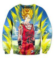basketball player numbers - Real USA Size D Sublimation print Crewneck Sweatshirts strong basketball player with number streetwear plus size