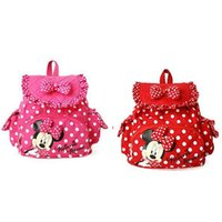 Wholesale Small Minnie Micky Mouse Little Baby Children Girls Backpacks Cartoon School Bag for Kids