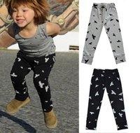 Wholesale 2015 Autumn Kids Children Casual Pants Boys Girls Dove Printed Long Pants Kids Clothing