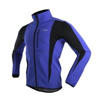 Wholesale ARSUXEO Winter Thermal Cycling Jackets Colors Warmer Bicycle Clothes Blue Windproof Breathable Coat MTB Bike Jerseys Sets