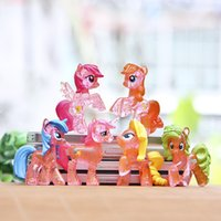 action drawing - Sale Cartoon Horse Toppers Doll PVC Action Figures Toy Fairy Garden Miniatures Craft For Home Decor Diy