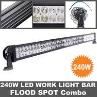 42 pouces 240W LED Light Bar Tracteur Bateau hors route 4WD 4x4 12v 24v de remorques de camions Jeep SUV ATV travail Combo faisceau de la lampe