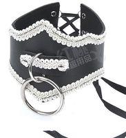 Cheap Sex Slave Collar Bondage Restraint BDSM Gear Slave Trainer Lace Collars Adult Sex Toys Products