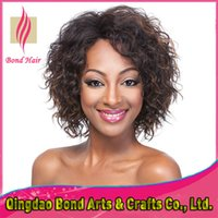 hand tied full lace wig - 10 quot Fashionable Glueless lace front wigs Indian remy curly Full lace human hair wigs Ombre color hand tied lace wigs density