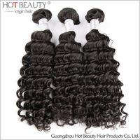 peruvian hair bundles - Peruvian Virgin Curly Hair Bundles Peruvian Deep Wave Hair Weaving Dyeable Beachable