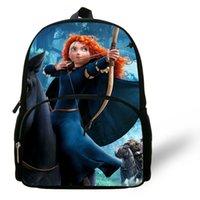 archery girls - 12inch Cartoon Children Bag For Girls Mochila Brave Backpack Kids School Bag Princess Horseback ry Bolsa Infantil Menina