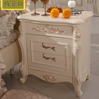 bedside nightstands - Pafeiya European style bedside lockers two carved French nightstand JLW802
