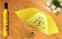 Wholesale In Stock Colorful Bottle Umbrella Fashion Umbrella Wine Bottle Umbrella Folding Umbrellas