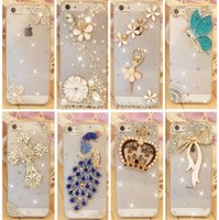 mobile phone crystal hard case - For iphone inch Rhinestone diamond bling style design cover Luxury crystal mobile phone cover hard back case nice designs