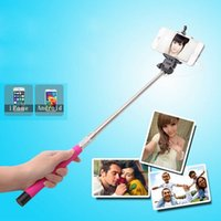 Wholesale Bluetooth Monopod Handheld Telescopic Selfie Stick Tripod Cable Monopod With Holder for iPhone samsung note4