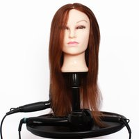 Wholesale Hairdressing Head Cheap Hair mannequin Head With Inches Natural Brown Human Hair Perfect For Perming Bleaching And Hair Styling