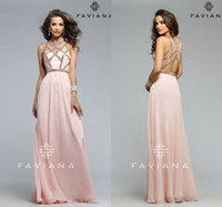 beaded overlays - Prom FAVIANA Sexy A Line Sleeveless Sweetheart With Sheer Overlay In Tulle With Crystal Beaded Peach Chiffon Party Dress Evening Gown