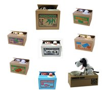 Wholesale Zorn toys Store Piggy Bank Itazura Kitty Hungry Cat Eating Electric Coin Bank Money Saving Box Eating money pot Stealing money tank