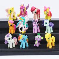 Wholesale Anime Cartoon My Little Pony Loose Figures Pony PVC Action Figure Toys Dolls set