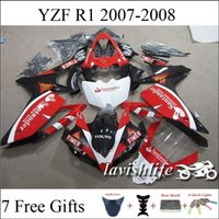 Wholesale YZF R1 Motorcycle Fairing Kit For Yamaha Santander Black White Red Color Motorbike Cowling ABS Injection Bodywork Gifts