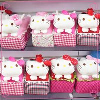Wholesale 2014NEW Hello Kitty Tissue Box Cover Holder Bathroom Bedroom Kids Gifts Table Decoration Kitchen Accessory Style Xmas Gift Sold by Piece