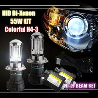 HID Accessories hid headlights - 55W V H4 Bi Xenon HID Kit H4 High Low Beam Slim Ballast Wiring Harness Hi Lo Beam Bulbs Car Vehicle Headlight Replacement