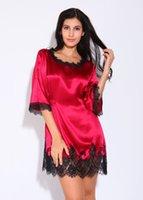 Wholesale Long Pajama Dress - New Hot ! Sexy Women long skirt silk pajamas ,Sheer Sleepwear sleep dress, silk long pajama