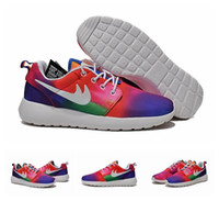 best cheap paint - 2015 New Style Cheap Best Roshe Run Painted Floral Flower Sports Running Shoes For Women And Men Colors Eur