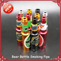 rasta - 2015 Colorful Creative Beer Bottle Shaped Rasta Tobacco Pipe Electronic Cigarettes Metal Smoking Pipes
