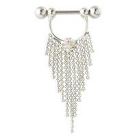 Wholesale Fashion G nipple piercing jewelry tassel pierced nipple bar ring jewelry sweet and sexy body lotion ring jewelry