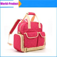 Wholesale Oxford Messenger Baby Diaper Bags Feeding Bottles Nappy Changing Bibs Stroller Storage Bag Gear Stuff Pouch DHL